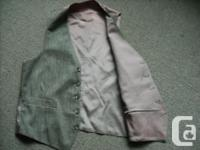 Boy's/Teen's dressy, suit vest. No size tags but would