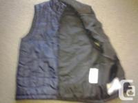 """Boy's navy blue vest, """"truly"""" brand, size 10, 100%"""
