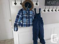 Boys size 18-24 months, 27-30 lbs Joe fresh snowsuit
