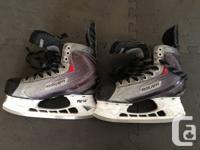 Selling 2 pairs of boys Bauer Hockey Skates.    Size 4