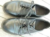 boys black dress shoes size 3 lace up synthetic