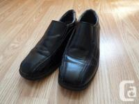 boys black dress shoes size 5 synthetic leather