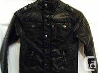 Size 6-7. Boys 'leather' jacket. Purchased for 75$.