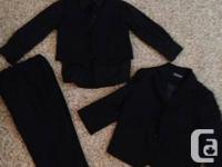 4 piece black on black suit size 2t comes with shirt,