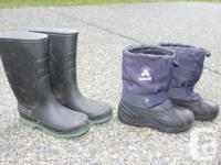 Boys Gumboots - size 3 = $5 Boys Kamik Winter Boots -