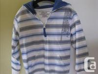 Super Cute White Hoodie with blue stripes Brand New