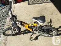 Little boys Norco dual suspension bike. Our son rode it