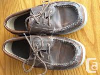boys shoes size 4 usually fits boys age 7-10 brown