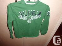 1 Green Tommy Hilfiger long sleeve T shirt size