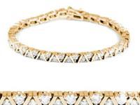 Ce charmant bracelet de diamants de luxe est conçu à