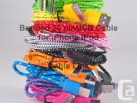 Braided durable 30 pin USB Data and Charge cable IPhone