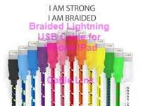 Braided Fabric Lightning USB Data Sync Charger Cable
