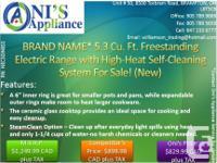 """Brand Name""5.3 Cu. Ft. Freestanding Electric Range NEW"