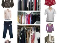 Brand name clothing store inventory close-out sale. Buy