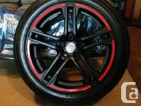 "For Sale: Brand New 18"" rims and performance tires with"