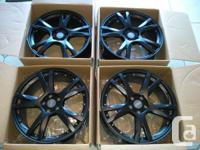 "Brand new 19"" Lambo style replica matt black rims for"