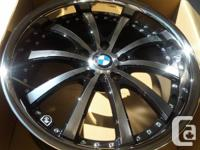 "Brand new in box 19"" deep machine lip rims for BMW"