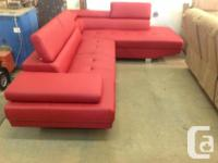 Brand new 2 piece bonded leather sectional..floor model