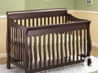 3 in 1 sleigh crib converts easily from a crib, to a