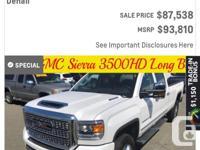 Make GMC Model Sierra 3500HD Year 2018 Colour Multiple