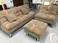 Brand new fabric sofa 3 pc set for only $399 plus tax