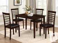 Brand New Solid Wood Dinning Table Set with 4 different