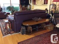 Brand new plum high end Natuzzi sofa, originally $4000,