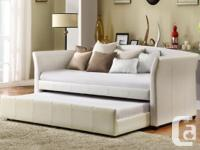 Brand New Beautiful Pu-Leather Daybed with Trundle....