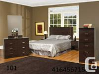 brand new bedroom set available in many colors such as