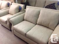 Brand new bonded leather living room set....sofa: $699