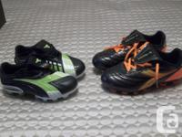 BRAND NEW SOCCER SHOES BY DIADORA GREEN ON BLACK