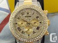 Used, BRAND NEW DIAMOND ROLEX DAYTONA WATCH FOR MAN & WOMEN for sale  Ontario