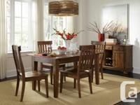 Brand new!! Still in the box!! Solid wood dining sets