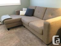Modern, high quality, Canadian-made sectional sofa from