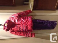 Brand New XMTN Girls Snow Suit Size 12 Pink jacket &