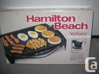BRAND NEW HAMILTON BEACH STEPSAVOR JUMBO GRIDDLE. MODEL