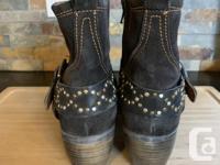 Brand new Josef Seibel Toni black nubuck leather boots