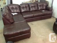 Brand new bonded leather 2 piece sectional. Regular