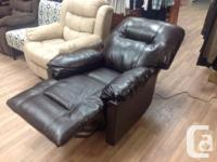 Brand new Power leather recliner. Reclines at the push
