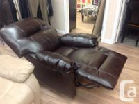Brand new Power leather recliners. Recline at the push