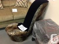 Brand new leopard print shoe chair..stylish and, used for sale  Prince Edward Island