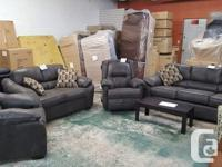 Brand new loveseat in grey Laramie fabric...$649 taxes