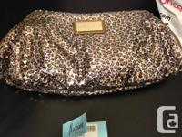 Brand new unused Marciano clutches, with sequins