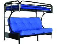 Brand new all metal bunk bed with Double size Futon on