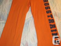 Brand New Orange Cotton Cross Trainer Gym Pants. Size