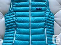 Tobago Blue Woman's Patagonia Down Sweater Vest in size
