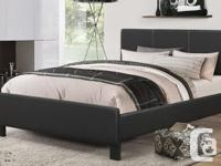 Brand New Pu-Leather Bed Frame with Medium Firm Spring