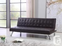 Brand New Pu-Leather Sofa Bed (Grey Fabric Sofa Bed