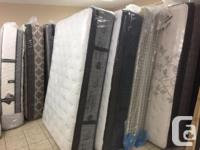 Good selection of queen size mattresses, Sealy, Serta,