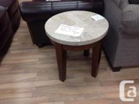 Brand new real marble top end table. Only 1 piece in